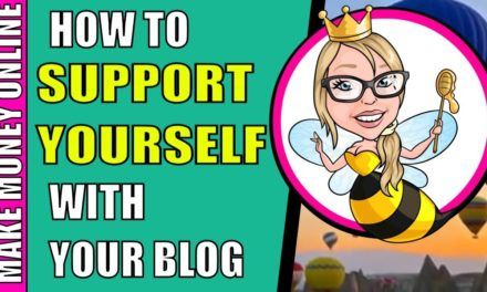 You can support yourself with your blog. Here's how.